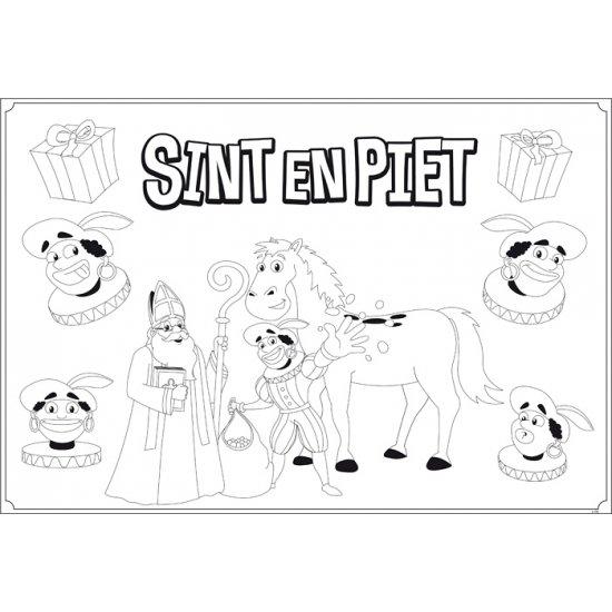 Bol Com Sinterklaas Kleurplaat Placemats 6 Stuks