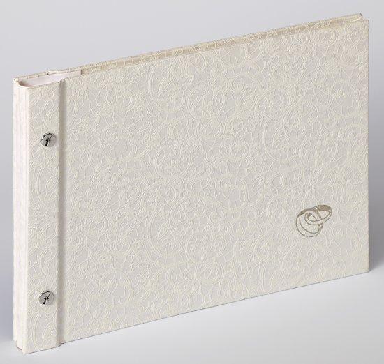 Walther Design SBL-212-W Sinfonia Wedding Music - Fotoalbum - 26,5 x 19 cm - Wit - 40 pagina's in Booneschans