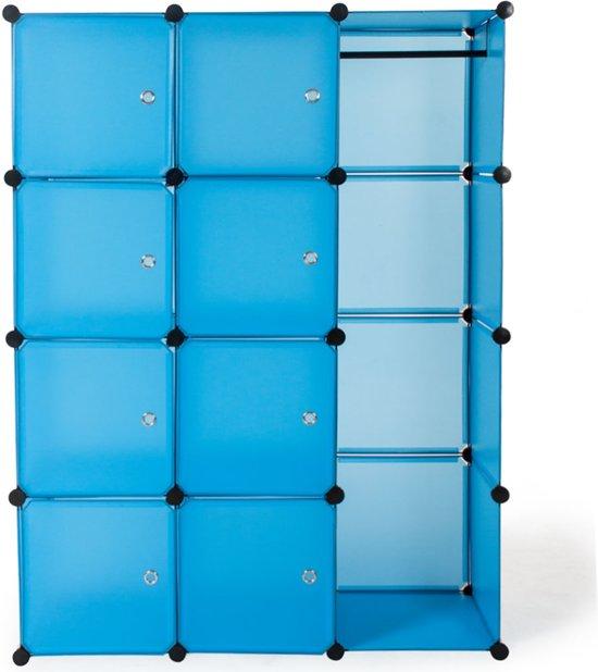 Opbergrek kast rek kleerkast garderobe staand rek badkamer blauw 400922 - Badkamer blauw ...