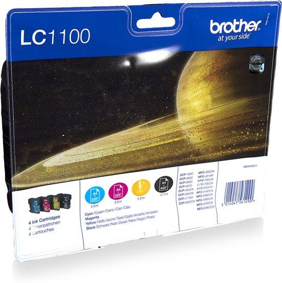 Brother LC-1100VALBP - Inktcartridge / Cyaan / Geel / Magenta / Zwart