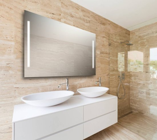 klussen vandaag speciale eco led spiegel met ingebouwde led verlichting x2 70 cm x 120 cm. Black Bedroom Furniture Sets. Home Design Ideas