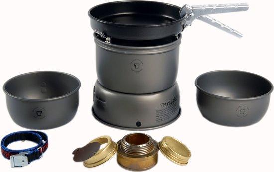 Trangia Kookpit 27-3 Ultralight HA Aluminium met Non-stick Pan in Schokland