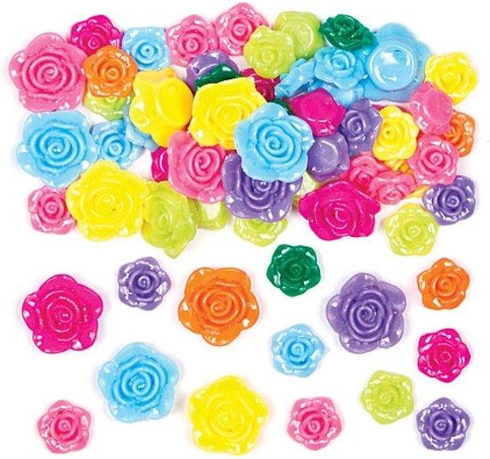 Gekleurd rozen bloem kralen  - creatieve knutselpakket/kralenset voor kinderen en volwassen voor armband en sieraden maken (150 stuks) in Moerbeek