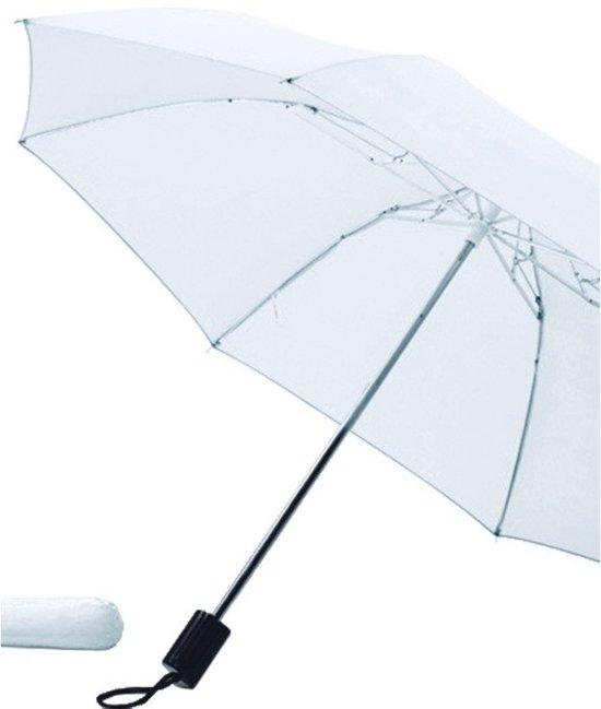 Fun & Feest Compact Paraplu - Ø 85 cm - Wit in Wittem