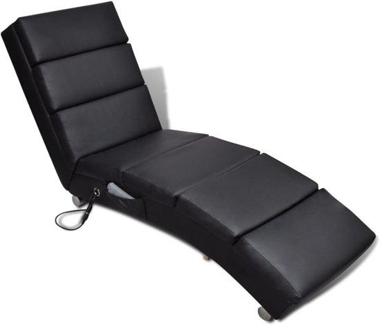 Elektrische massage ligstoel zwart for Ligstoel buiten