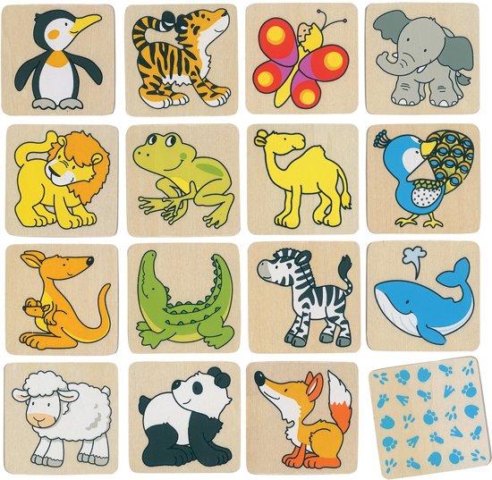 Goki Memory wilde dieren 32 delig in Rande