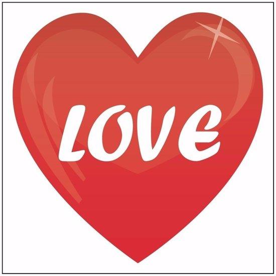 0 Door Bol Com 5x Love Hartje Sticker 10 5 Cm Valentijn