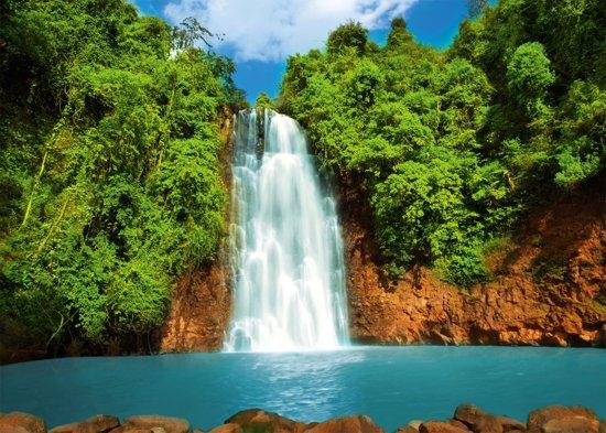 Exotic Waterfall Wallpaper: Fotobehang, Muurposter, Waterval, Natuur, 115 X