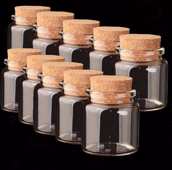 Glazen pot met kurk deksel kleine lege glas for Decoratie fles