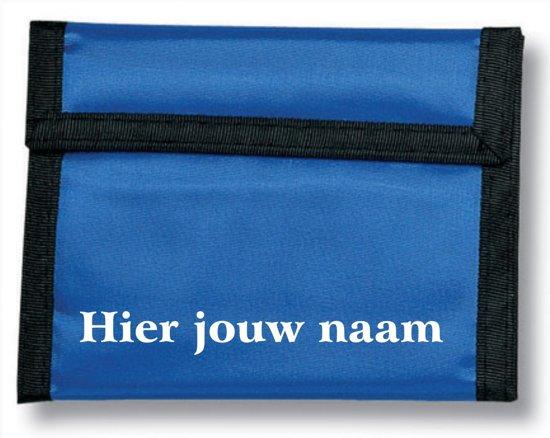 mijncadeautje - naamportemonnee Michelle - Polyester - blauw - met voornaam in Emmeloord