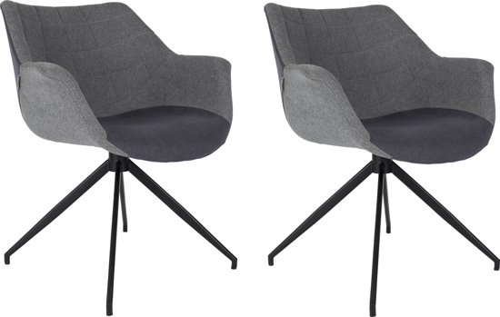 Zuiver doulton stoel grijs donkergrijs set for Merk stoelen