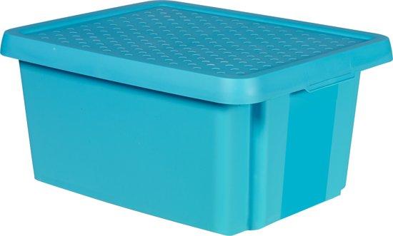 Curver opbergbox essentials 20 liter blauw - Deksel x ...