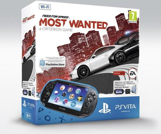 Sony PlayStation Vita Wifi + Need For Speed: Most Wanted Voucher + 4GB Memory Card Zwart