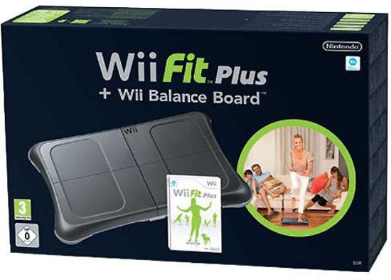 Wii Fit Plus + Balance Board Zwart