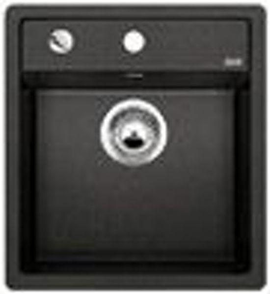bolcom  Spoelbak Blanco Dalago opbouw zwart 517156 Draaiknopbediening # Blanco Wasbak_012503
