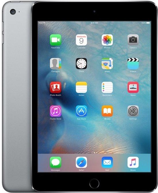 Apple iPad Mini 4 - 4G + WiFi - 16GB - Zwart/Grijs