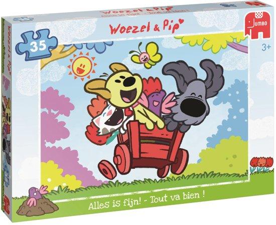 Woezel & Pip Alles Is Fijn! Puzzel 35 Stukjes in De Kooi