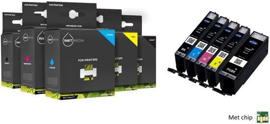 Inktmedia® - Inktcartridge - Alternatief voor de Canon PGI-570 CLI-571 XL 1X Set van 5 inkt cartridges