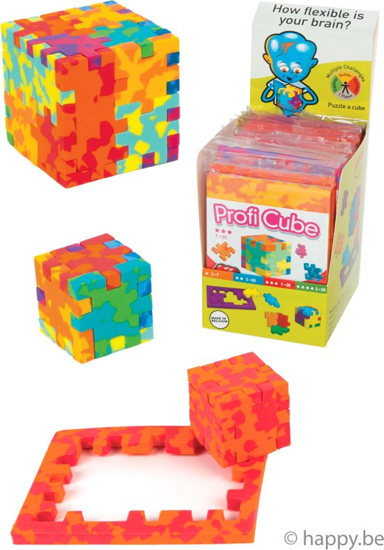 HAPPY Profi Cube Display - 12 kubus puzzels in Eede