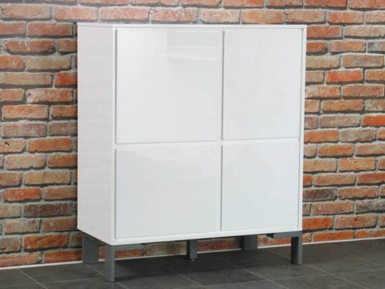 bol.com  Uptown hoog dressoir met 4 deurtjes wit hoogglans  Wonen