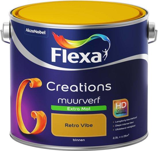 Beste Tegelverf Badkamer ~ bol com  Flexa Creations Muurverf  Extra Mat  Retro Vibe  2,5