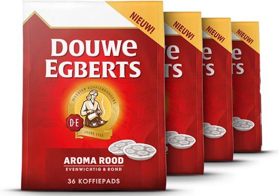 douwe egberts aroma rood koffiepads 4 x 36. Black Bedroom Furniture Sets. Home Design Ideas