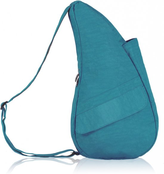 The Healthy Back Bag Textured Nylon Teal Small in Dussen