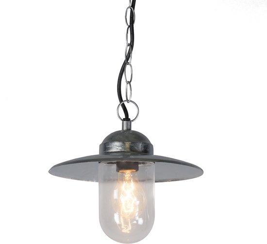 QAZQA Munich - Hanglamp - 1 lichts - 260 mm - grijs in Montignies-sur-Roc
