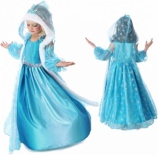 Frozen - Elsa - mouwloze jurk met losse mouwen en cape - maat 110 + 4-delig accessoires set + Frozen etui in Heerensloot / Hearresleat