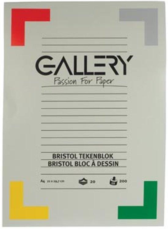 Gallery Bristol tekenblok formaat 21 x 297 cm  A4 200 g m² 20 vel