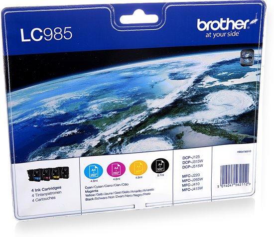 Brother LC-985BK - Inkcartridges Cyaan / Magenta / Geel / Zwart