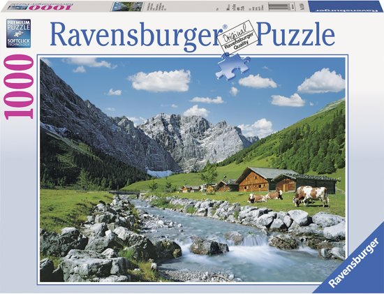 Ravensburger Karwendelgebergte, Oostenrijk - Puzzel van 1000 stukjes in Heille