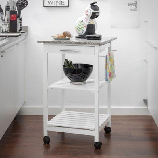 Keukentrolley Wit : Keukentrolley Wit : bol com Keukentrolley granieten bovenplaat Dier
