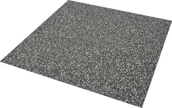 Flexxfloors vinyl vloer terrazzo antraciet tegel zelfklevend 2 09 - Vinyl imitatie tegel ...