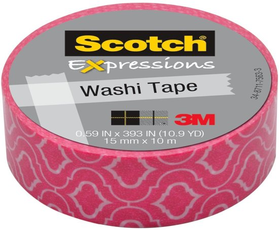 Scotch Expressions tape 15 mm x 10 m roze craquelé in Botlek
