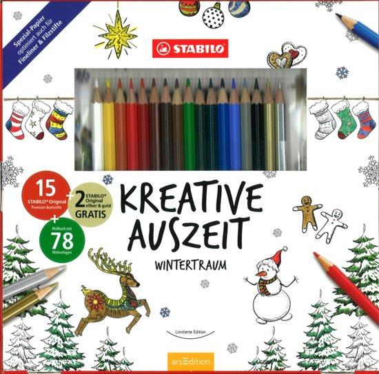 STABILO Original Kleurpotloden, 17 stuks + winter kleurboek in Vlierzele