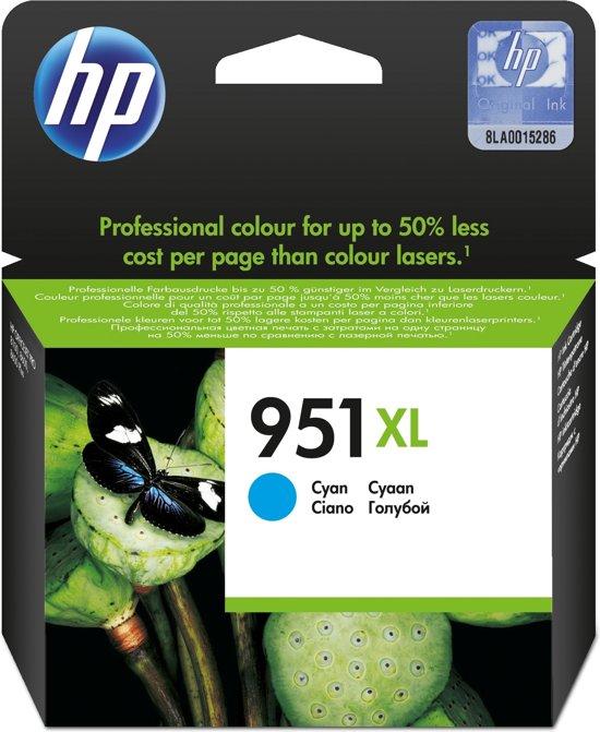 HP 951XL - Inktcartridge / Cyaan / Hoge Capaciteit (CN046AE)