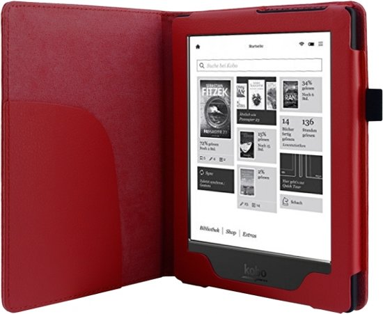 Rode Keukenapparaten : bol.com Rode Beschermhoes voor Kobo Aura HD / UwEreaderNL Huismerk