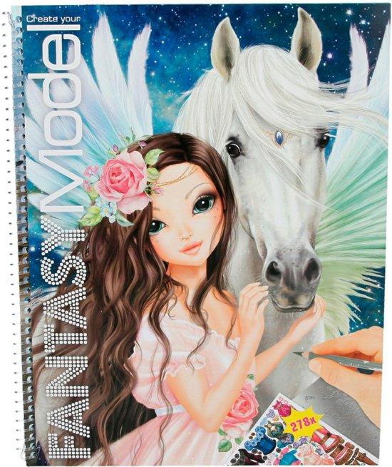 Bol Com Topmodel Fantasy Model Tekenboek Incl Stickers