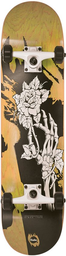 Choke Skateboard Skull Homegrown Ii Geel/zwart in Duinen