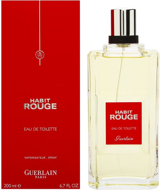 guerlain habit rouge men 200 ml eau de toilette. Black Bedroom Furniture Sets. Home Design Ideas