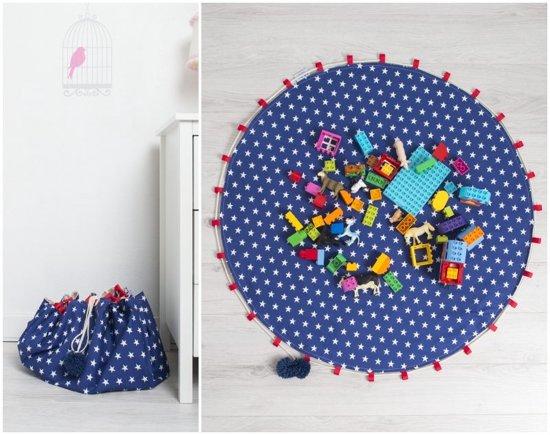 FUJL - Opbergzak - Speelkleed - Speelgoedzak - Speelmat - Ø100cm - Blauw in Egmond aan den Hoef