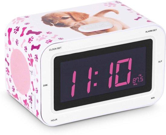 bigben wekkerradio hond roze bigben interactive. Black Bedroom Furniture Sets. Home Design Ideas