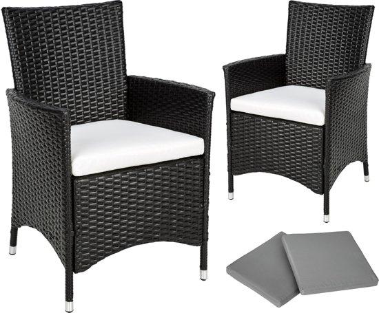 Tectake tuinset 2 comfortabele stoel aluminium wicker 401469 - Comfortabele stoel ...