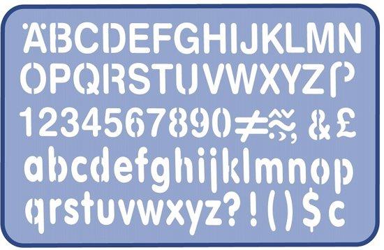 Helix lettersjabloon 10mm in Bakendorp