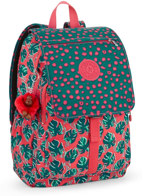 Kipling Haruko - Laptop Rugzak - Jungle Dot Play in Parike