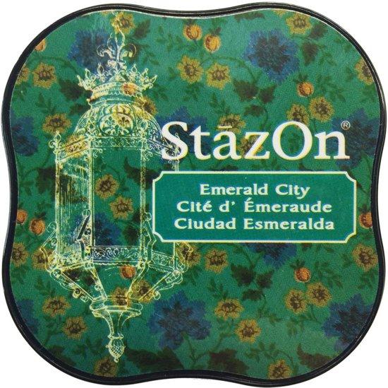 Stazon sneldrogend stempelkussen midi Emerald City in Stroobos / Strobos