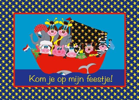 Uitnodiging kinderfeestje Piraat A-6 (10 stuks) Puk Art. in Blessum