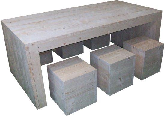 U tafel set van steigerhout for Bouwpakket steigerhout