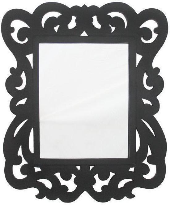 Barok spiegel zwart 34x41 cm for Barok spiegel